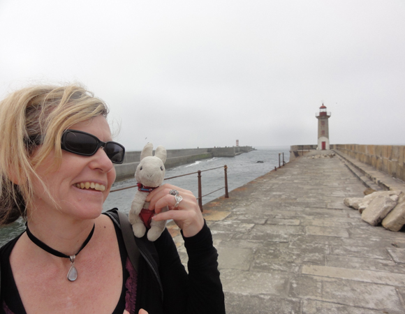 Dr. Phillips with friend in Foz do Douro, Porto, Portugal