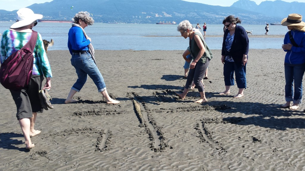 Low tide labyrinth making by K. Plato