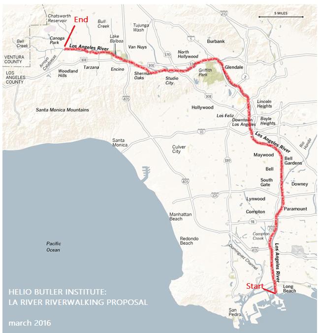 Riverwalking Relationship Los Angeles River WalkingLab - Los angeles river map