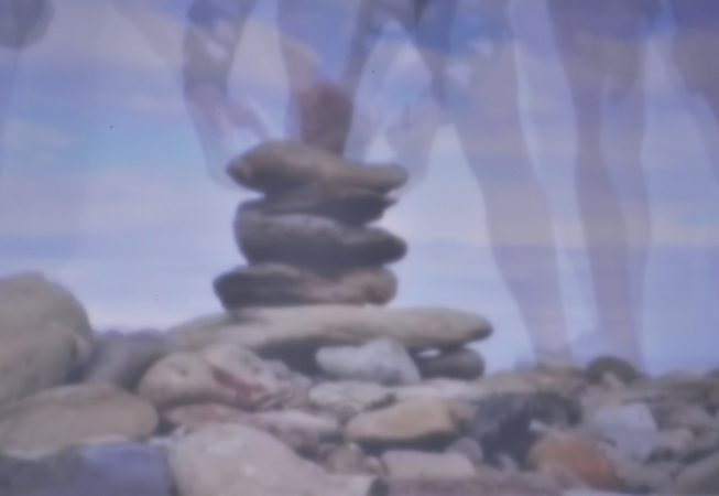 Rock tower pinhole by Sarah E. Truman