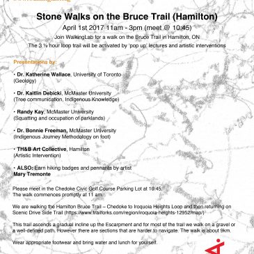 EVENT: Stone Walks on the Bruce Trail Hamilton (April 1st)