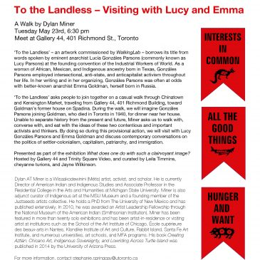 EVENT: To the Landless (A walk with Dylan Miner)