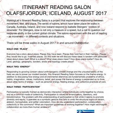 Itinerant Reading Salon Ólafsfjörður, Iceland