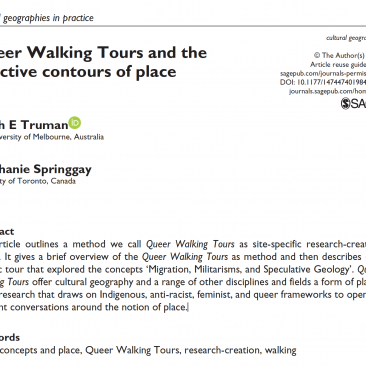 Queer Walking Tours and the affective contours of place